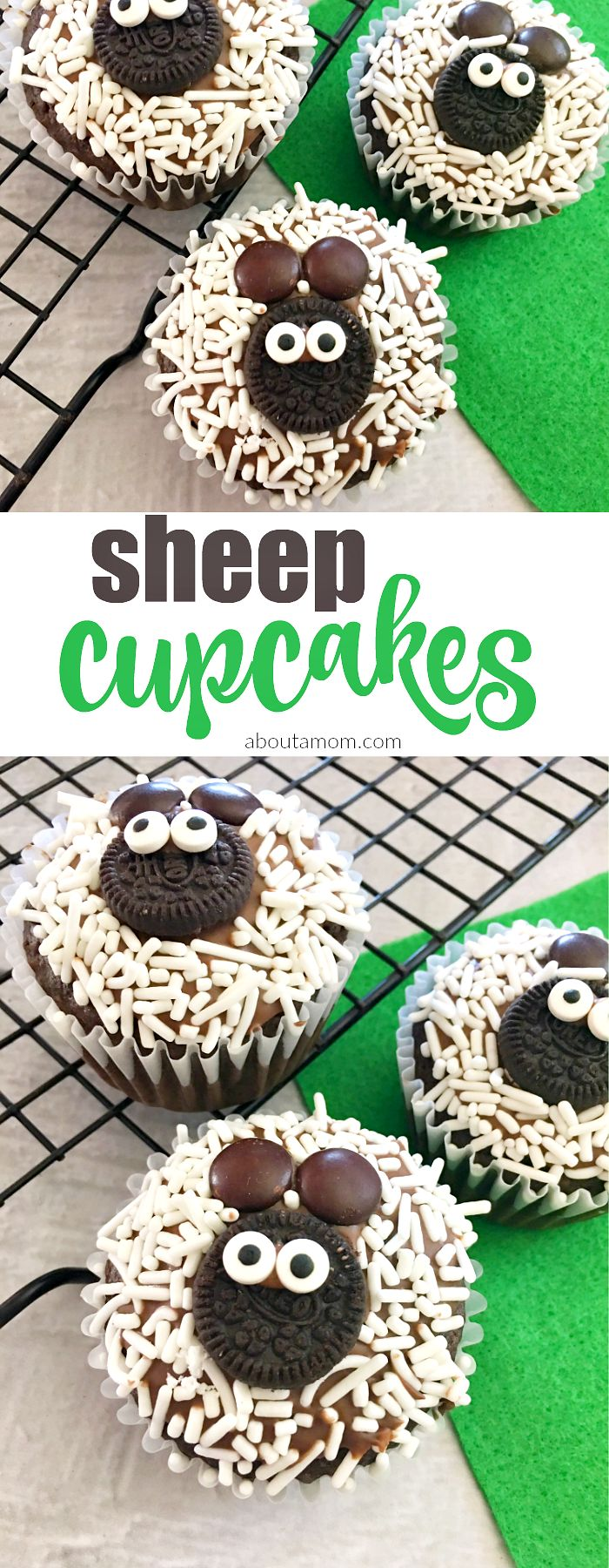 These simple-to-make sheep cupcakes are the perfect way to celebrate spring or Easter.