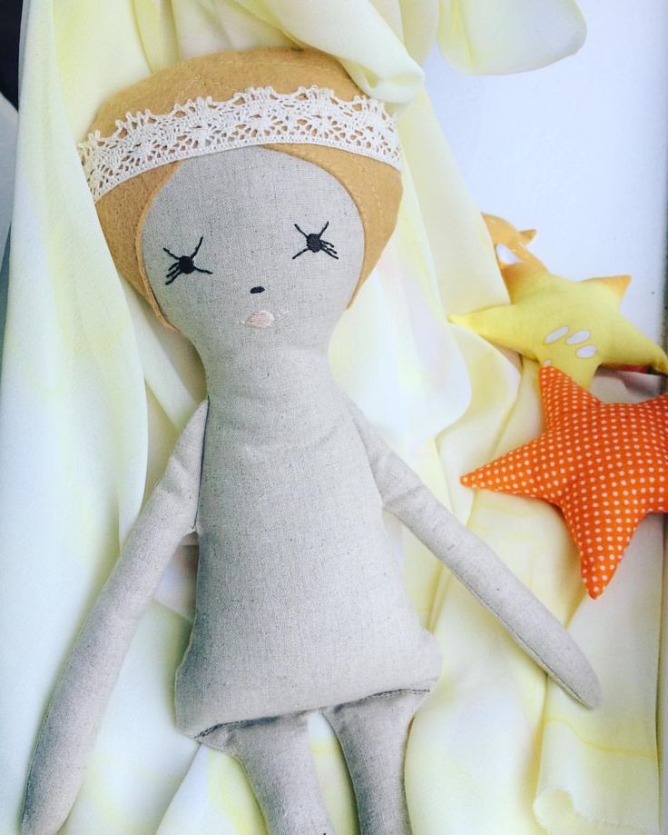"1 Likes, 1 Comments -  Vanya  (@littlecraftyco) on Instagram: ""A doll in progress. Slowly, slowly she will be dressed soon with a special dyed fabric of mine,…"""