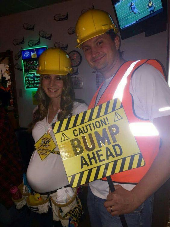 ideas accessories for your diy bump ahead halloween pregnancy costume idea - Pregnant Halloween Couples Costumes