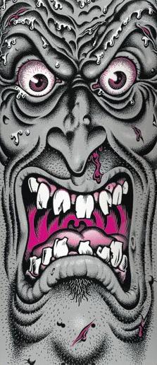 Santa Cruz Skateboards Rob Roskopp Face - By Jim Phillips