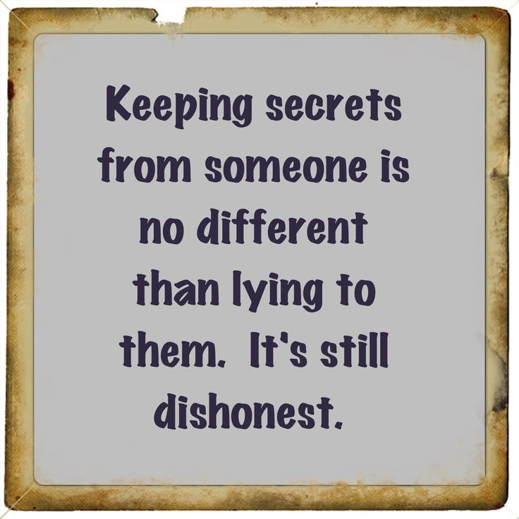 Keeping things quiet...not necessarily keeping a secret is the same thing.