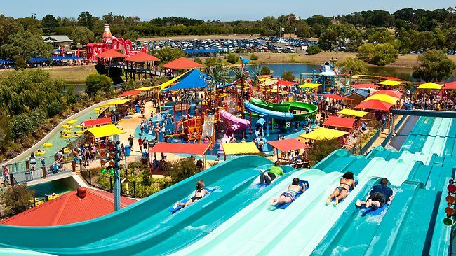 pictures of family fun parks | Waterslide fun at Geelong Adventure Park. Picture: Supplied Source ...