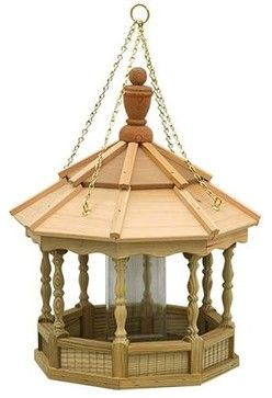 Greyfield Small Hanging Spindle Birdfeeder - contemporary - bird feeders - Fifthroom.com