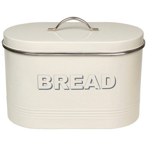 Large Vintage style Cream tin bread bin storage LP22224