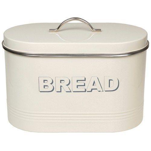 Large Vintage style Cream tin bread bin storage LP22224