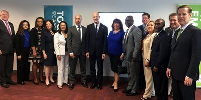 Governor Rick Scott joins City Council members, FIS representatives and community leaders to announce the company's plans to bring 250 jobs to Jacksonville.