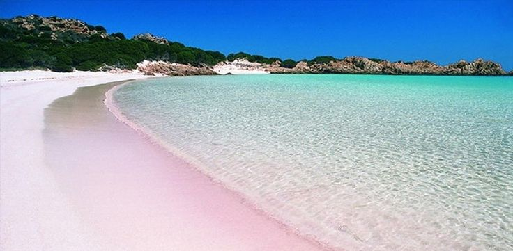 Harbour Island (Bahamas) -- this teeny-tiny island is just three miles long and one mile wide - but the sand on the beaches is pink.  Short ferry ride away from Nassau.