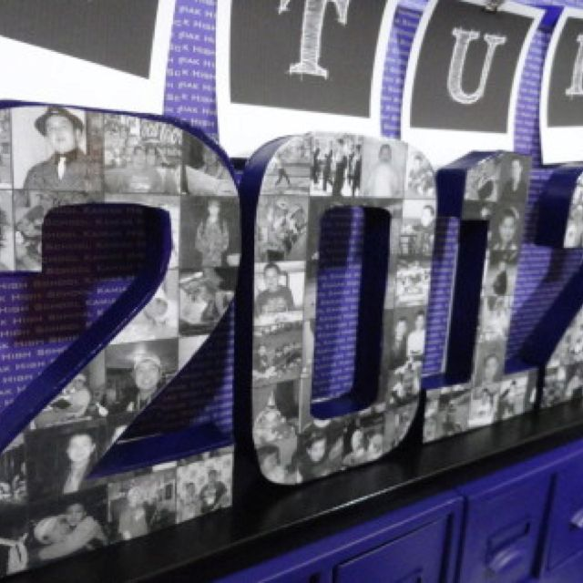 2012 graduation party ideas. I think this would be cute with just the person's age for a birthday party.