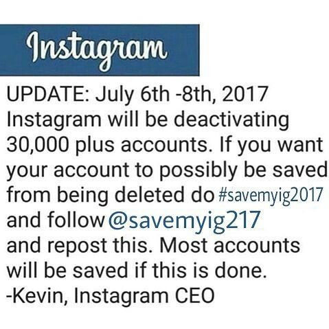 "470 mentions J'aime, 1 commentaires - Instagram Team® (@savemyig217) sur Instagram : ""UPDATE: Since not enough accounts were deactivated @instagram is extending the time to July 8th,…"""
