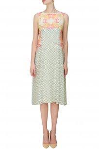 Ivory Printed Sleeveless Dress #shopnow #newcollection #contemporary #nikimahajan#happyshopping #dress #clothing