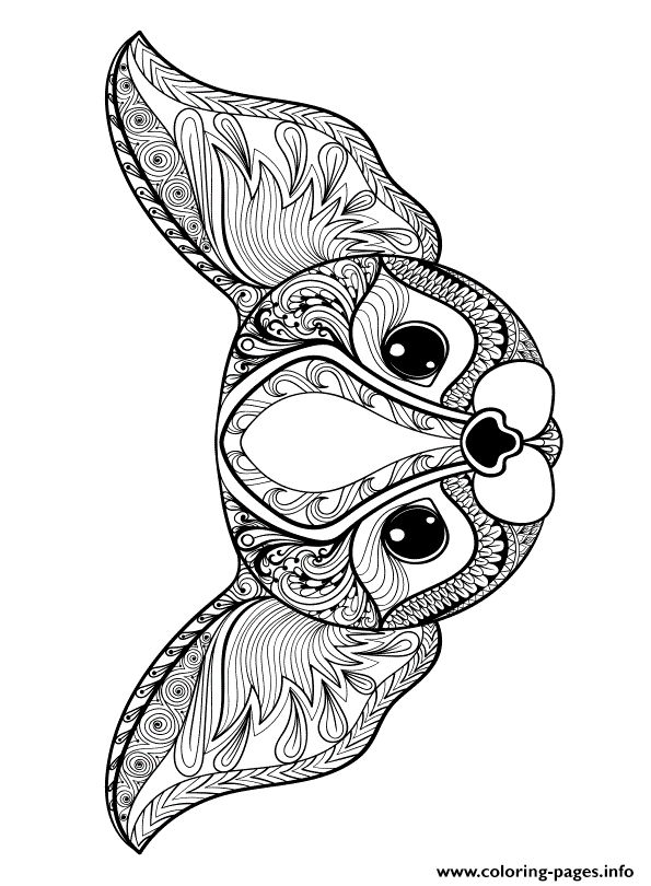 Print zen cute cat adult Coloring pages | Dog coloring ...