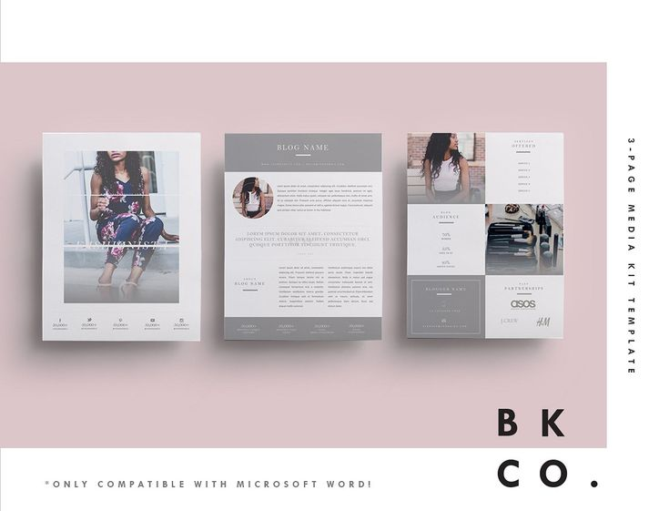 Fashionista is a gorgeous grey 6-page Media Kit Template + Sponsorship Set, that is perfect for the fashion and beauty enthusiast, available in both A4 and US Letter sizes.