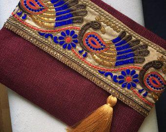 Schoudertas boho tas Boheemse tas etnische tas vilten tas