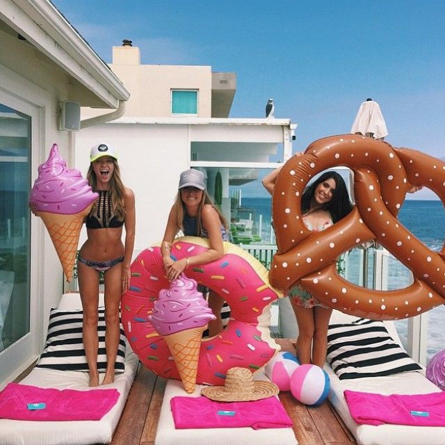 Summer isn't over until you've played with the pretzel and donut floatie!