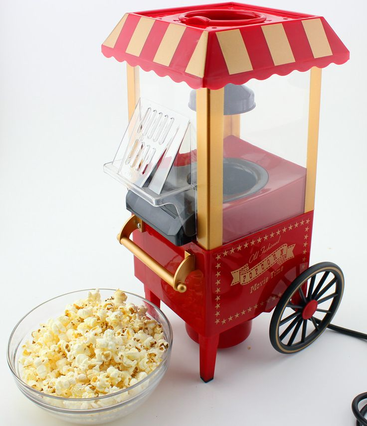 Free Shipping Hot selling Domestic Nostalgia Electric Hot Air Popcorn Maker MINI Home use household popcorn machine