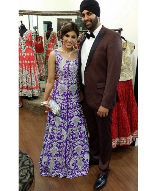 Our Client Of California In Her Reception Gown