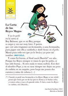 Libros a la calle (Leer para crecer) // La carta de los Reyes Magos, extracto de Marcela en Navidad, de Ana García-Castellano, 1963