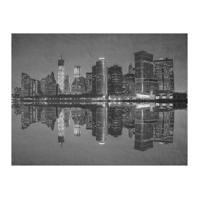 Photo Of The New York City Skyline Landscape Fleece Blanket Zazzle Com In 2021 New York Landscape Nyc Skyline City Skyline