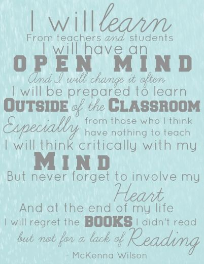 A Learner's Creed – What a great reminder of what it means to be a lifelong learner!