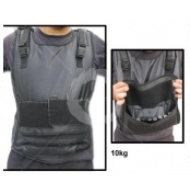 SMAI Pro Weight Vest - 10kg  Strong Man Professional weighted vest weighs10kg.  Features:  - Includes 20 removable steel ingots. - Total Weight = 10kg.  Note: This vest is now on clearance. LIMITED STOCK AVAILABLE.   For more info visit: http://www.gymandfitness.com.au/smai-pro-weight-vest-10kg.html