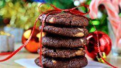 Шоколадное печеньесорехами и белым шоколадом