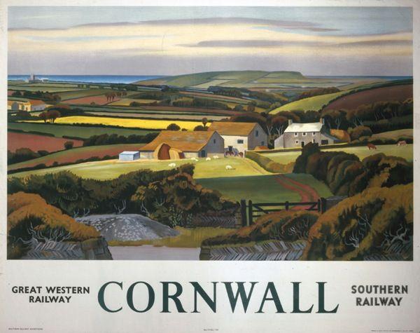 'Cornwall', GWR/SR poster, 1936 Adrian Allinson