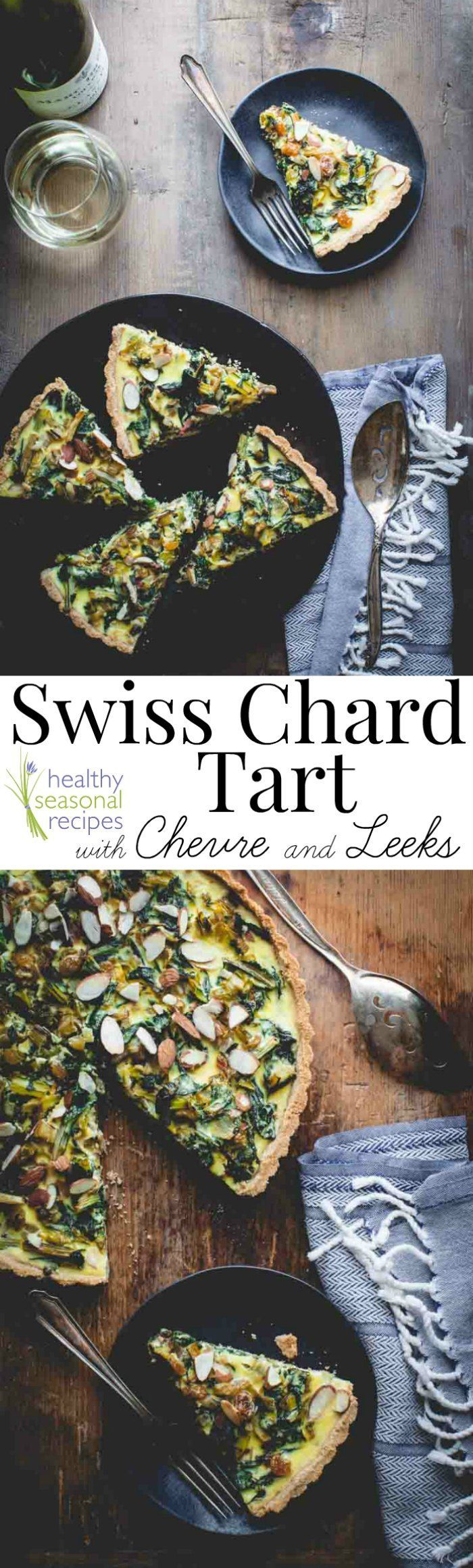 Blog post at Healthy Seasonal Recipes : This Swiss Chard tart with Chevre and Leeks is a must make if you are looking for a fancy vegetarian entree for the holidays. It is filled w[..]