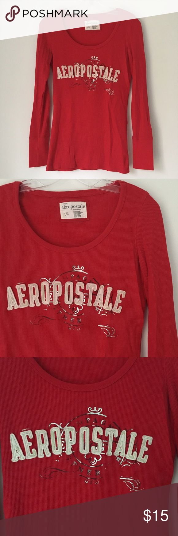 AEROPOSTALE RED WAFFLE KNIT THERMAL TEE SHIRT TOP! ‼️ DESCRIPTION COMING SOON ‼️ SPECIFIC DETAILS ALSO COMING SOON ‼️ (But feel free and ask questions if interested.) Aeropostale Tops Tees - Long Sleeve