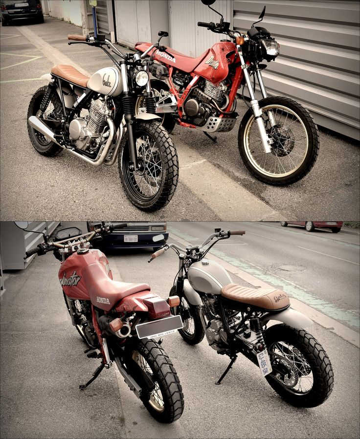 Honda Dominator (befor / after) by Galz Motorcycle