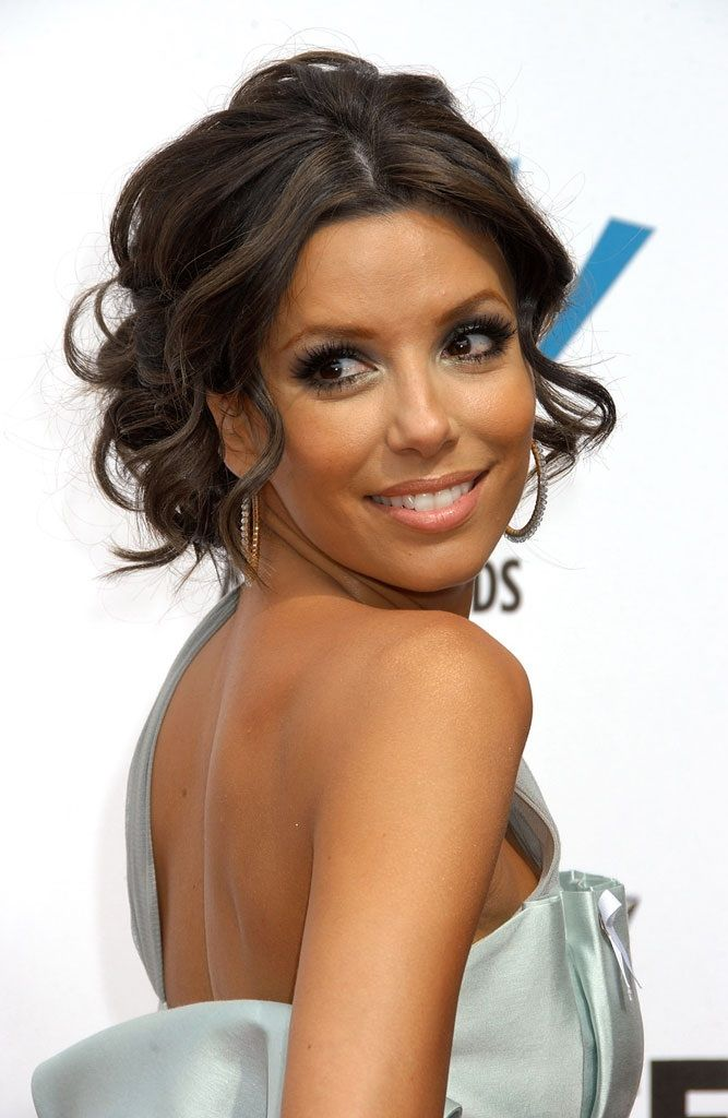 Eva longoria formal hair updo