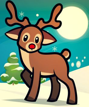 How to Draw a Reindeer For Kids, Step by Step, Animals For Kids, For Kids, FREE Online Drawing Tutorial, Added by Dawn, December 11, 2012, 9:33:25 am
