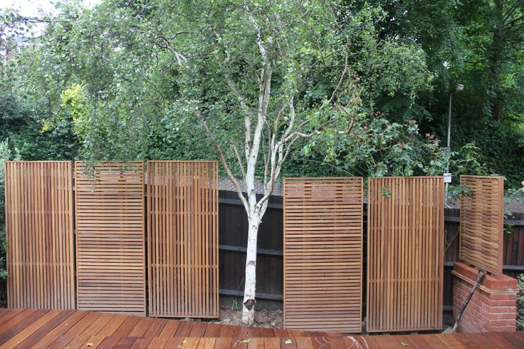 Jdh joinery and timberscape hampstead hard wood slatted for Wood screen fence