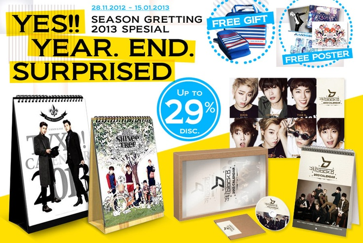 New GIFT KPOP Season Greetings Collection http://www.yes24.co.id/SpecialEvents/482200
