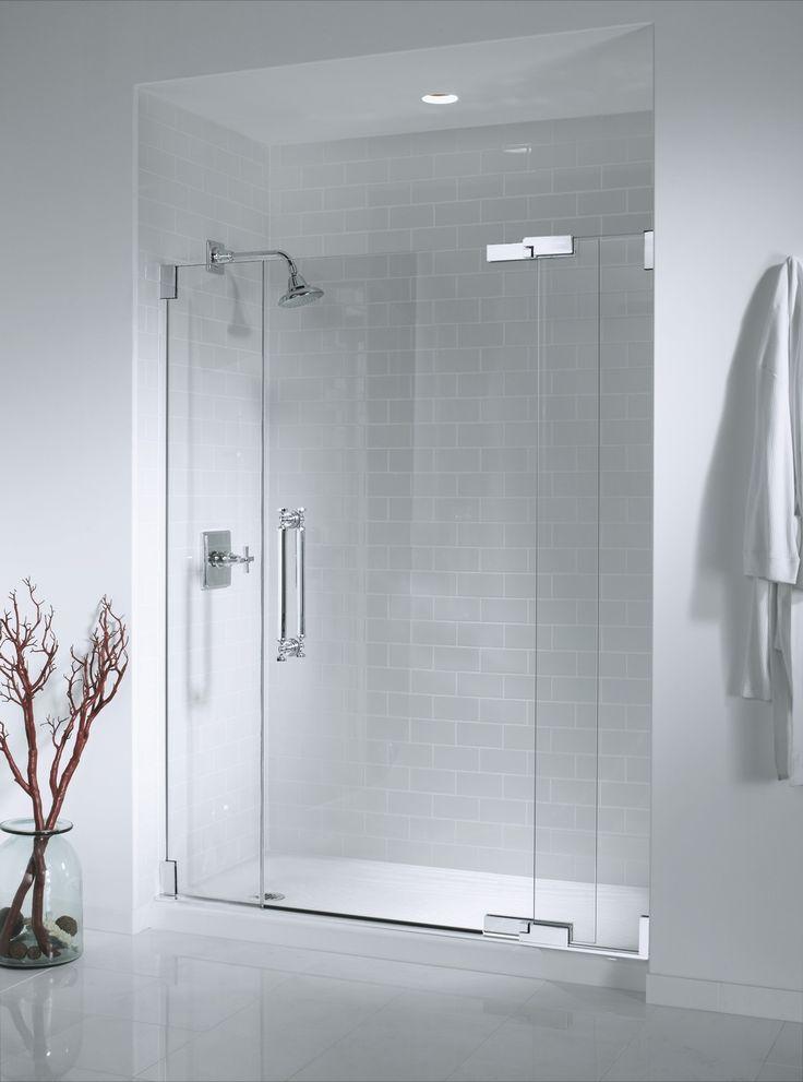 Seamless Glass Shower Doors Spanish Bathroom Pinterest