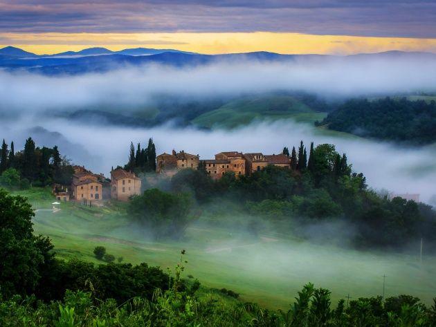 Сельская местность в Тоскане,