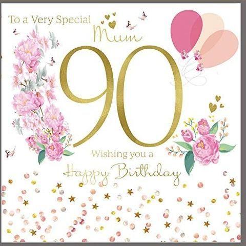 90th Birthday Card Mum 90th Birthday Cards 90th Birthday 30th Birthday Cards