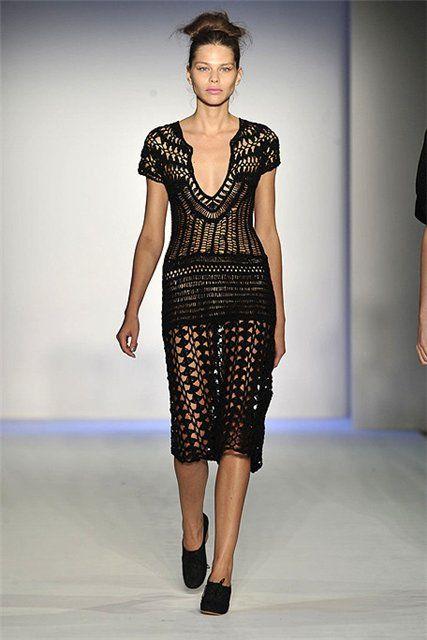 Crochet, would look better as a tunic than a dress