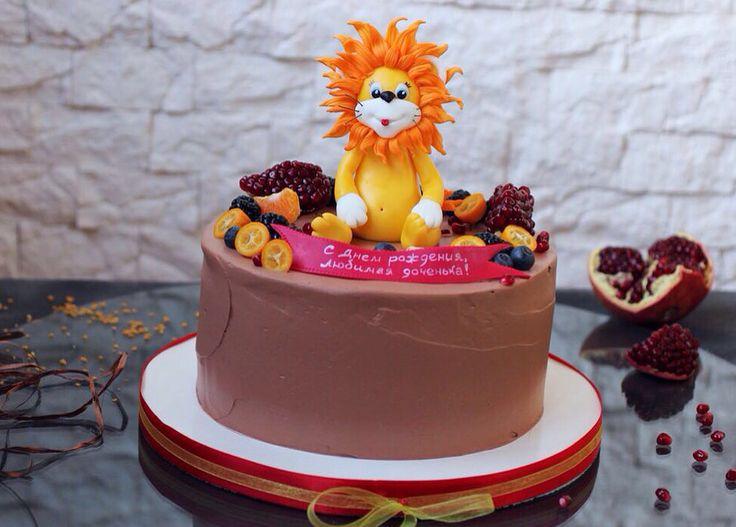 Доброе утро‼️ Сегодня у нас солнечный львёнок и невероятно ароматный шоколадный тортик