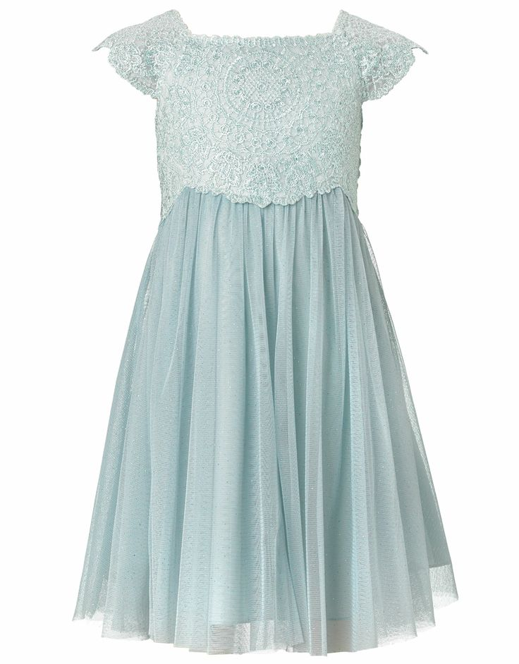 Baby Estella Glitter Dress | Blue | Monsoon