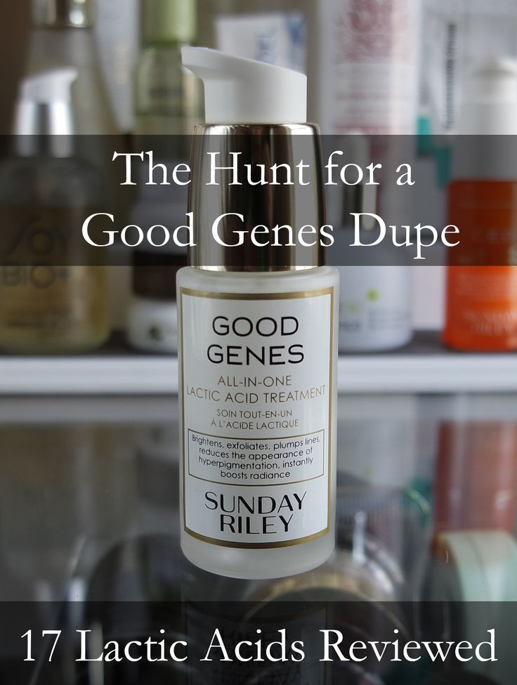 7500 words on the hunt through 16 other lactic acids for a Sunday Riley Good Genes dupe.