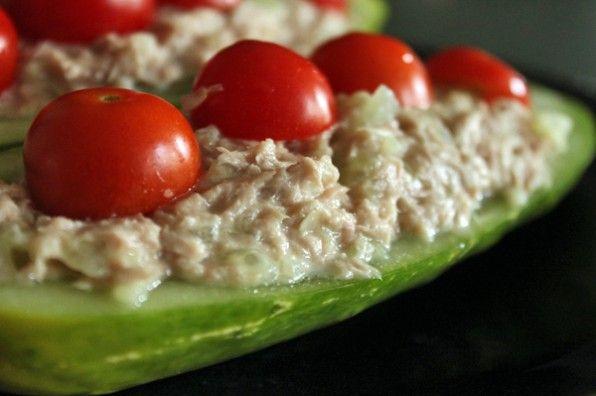 CUCUMBER TUNA BOATS - Paleo Recipes | Delicious Paleo Diet Recipes