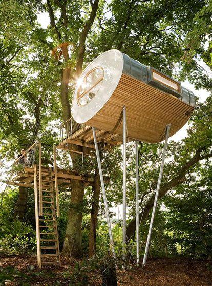 Esta cabaña en el árbol es una de las más peculiares que he visto nunca   Qcosas
