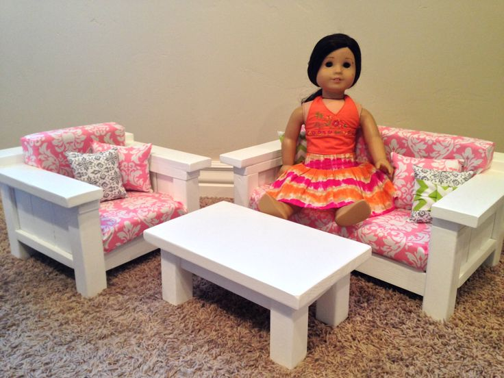 Items Similar To ON SALE Doll Furniture   American Girl Doll Size 3 Pc Living  Room Set: Sofa, Chair, Coffee Table. Pink/White Damask On Etsy Part 52