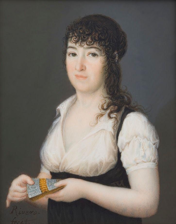 ca. 1805 María Gabriela de Palafox y Portocarrero, marquesa de Lazán by José Alonso de Rivero Sacades (Museo Nacional del Prado - Madrid Spain) | Grand Ladies | gogm