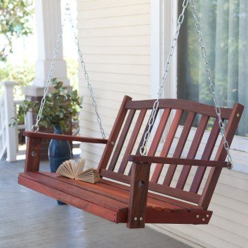 Absolutely obsessed with front porch swings