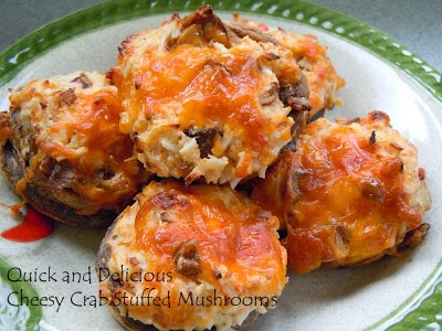 Quick and Delicious Cheesy Crab Stuffed Mushrooms