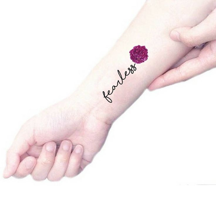 Tatouage temporaire devis courageux / purple tatouage pivoine / illustration florale tatouage fleurs vintage et citations / poignet botanique bras tatouage par Leccio51 sur Etsy https://www.etsy.com/fr/listing/105950345/tatouage-temporaire-devis-courageux