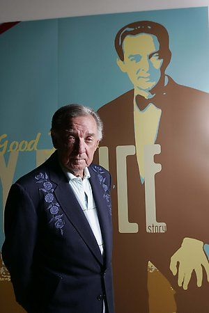"Ray Price at ""For the Good Times - The Ray Price Story"" exhibit at the Country Music Hall of Fame and Museum - Nashville."