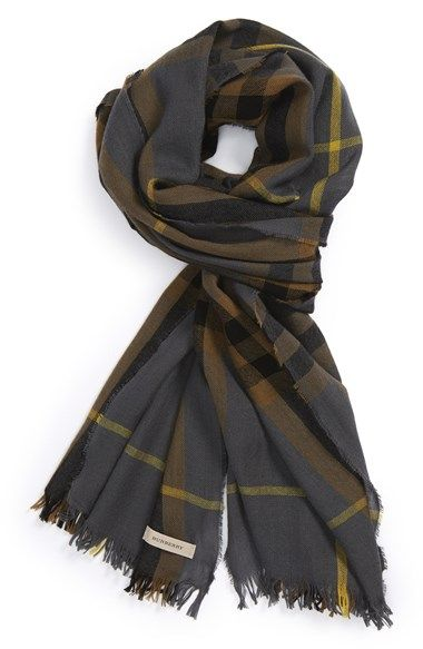 Burberry Check Merino Wool & Cashmere Scarf available at #Nordstrom