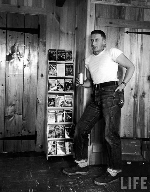 photo: Spillane by Peter Stackpole, 1952 - LIFE........Hardboiled raconteur Mickey Spillane (Mar. 9, 1918 - 2006), U.S. author of crime novels, many featuring his signature detective character, Mike Hammer. More than 225 million copies of his books have sold internationally